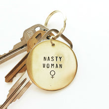 Nasty Woman Handstamped Keychain