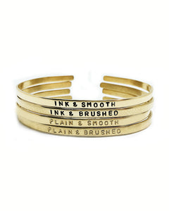 Bestie Handstamped Skinny Cuff Set of Two