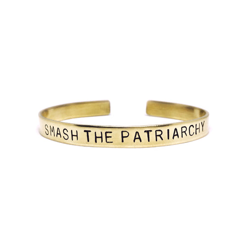 Smash The Patriarchy Handstamped Cuff