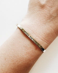 Soul Sisters Handstamped Skinny Cuff