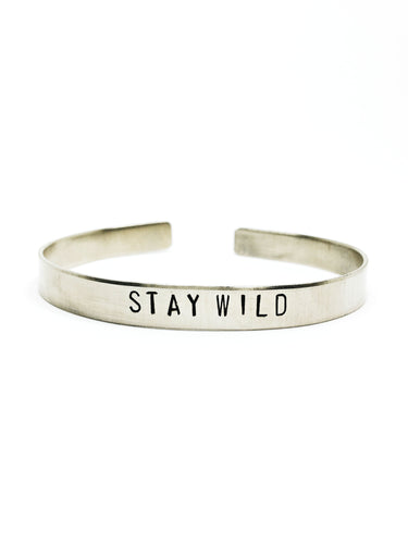 Stay Wild Handstamped Cuff