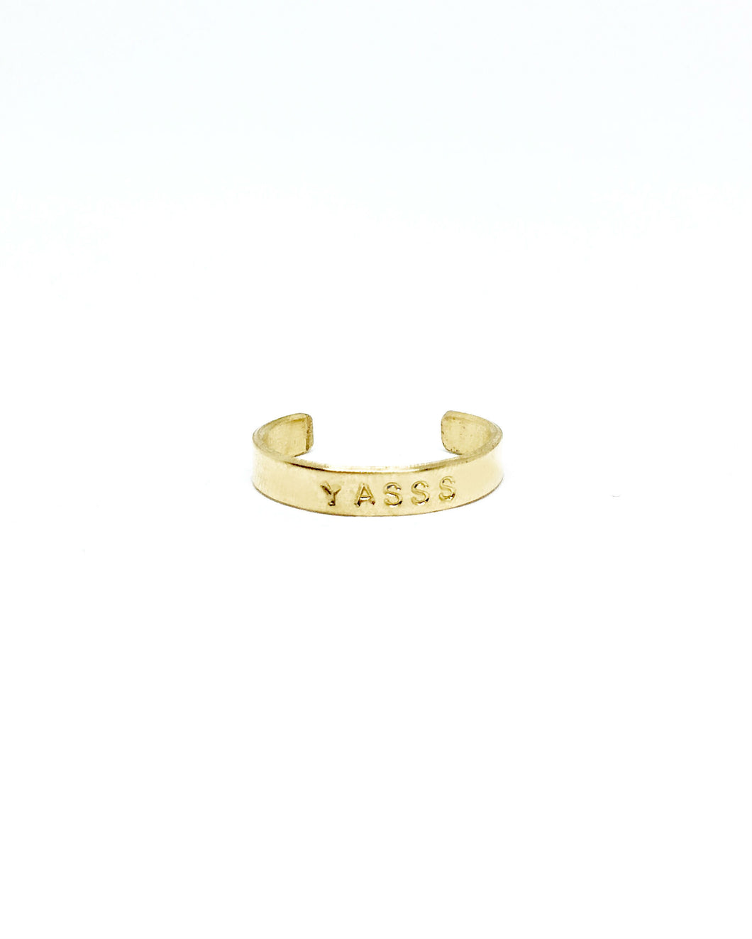 YASSS Handstamped Ring