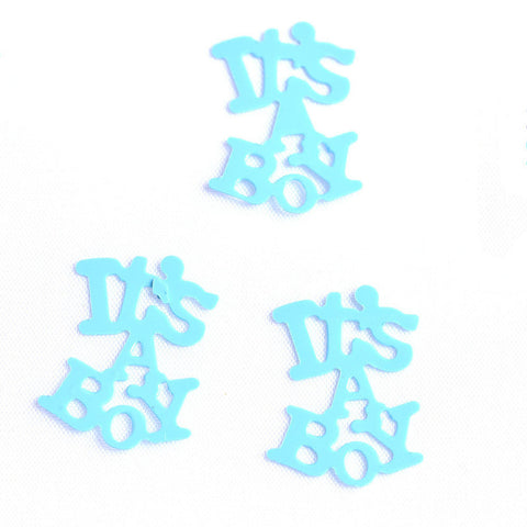 It's a Boy/Girl Baby Shower Table Scatter Confetti