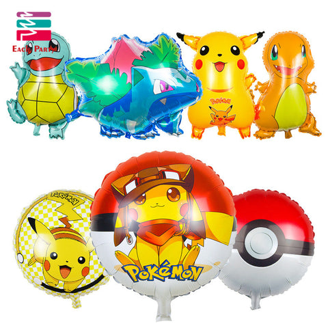 Pokemon Go Pikachu Foil Balloons Birthday Party