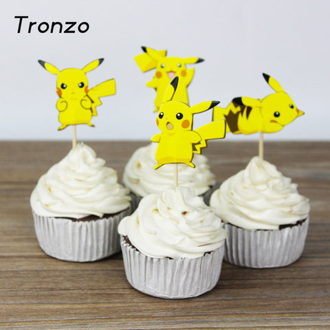 Pokemon GO Pikachu Cupcake Toppers 24pcs/set