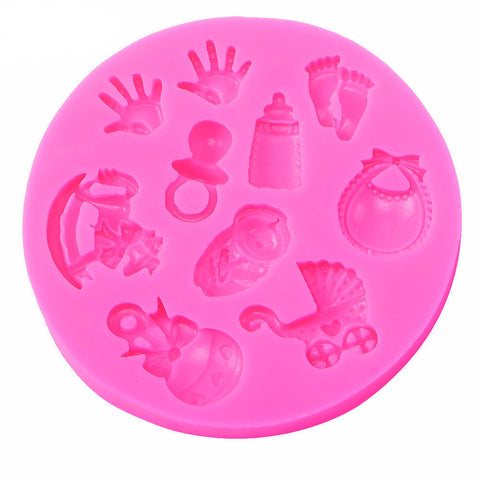 Baby Shower Silicone Cake Decorating Mold