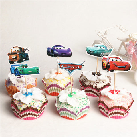 Cars Cupcake Toppers 24 Pcs