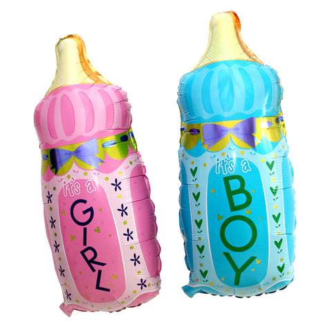 Baby Boy & Girl Milk Bottle Baby Shower Foil Balloons Decoration Party Balloons