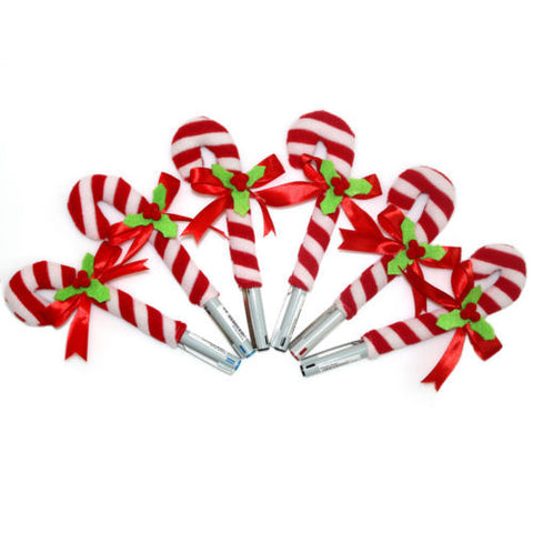 Candy Cane Stick Pen Pencil Cover Pen Cap