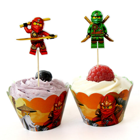LEGO NinjaGO Cupcake Decoration Kit 12 Full Sets