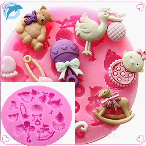 Baby Shower Silicone Mold For Cake Decorating