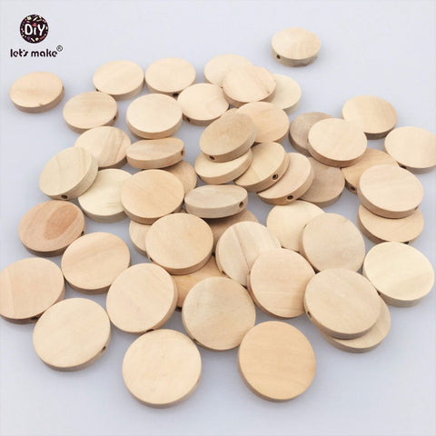 Natural Flat Wood Round Circles