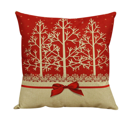 Vintage Christmas Sofa Bed Pillow Case Cover