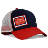 Casquette trucker bleu et rouge Classic Navy Red White