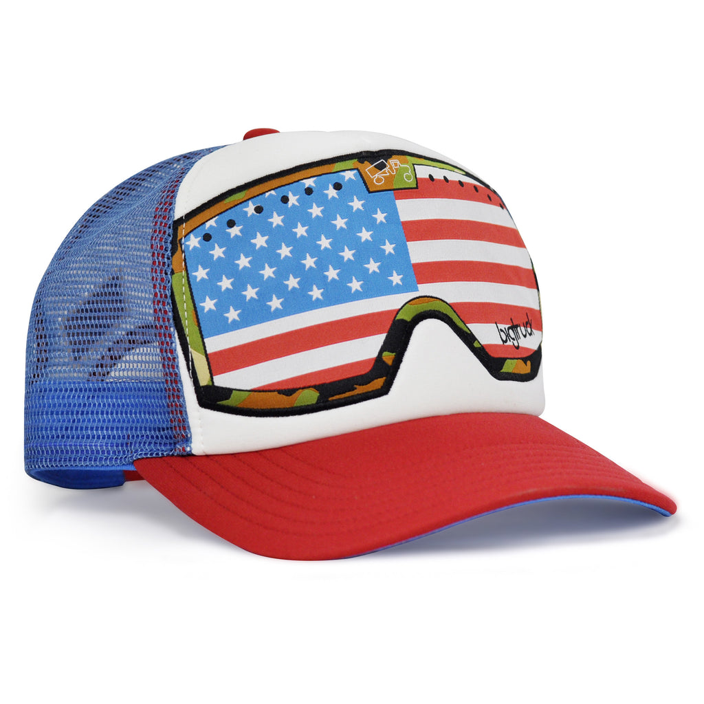 Casquette : OG G.Line Red White Blue American Flag Goggle