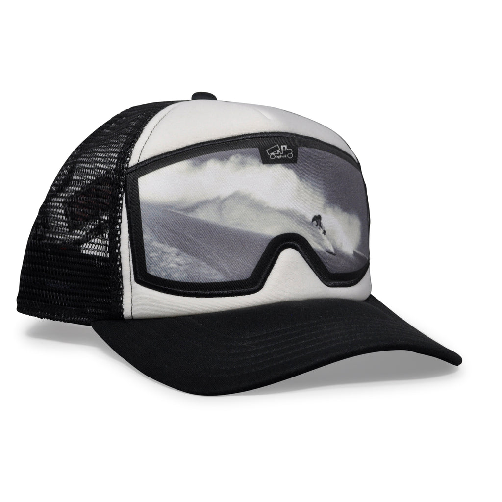 Casquette : Original Goggle White Black Slash