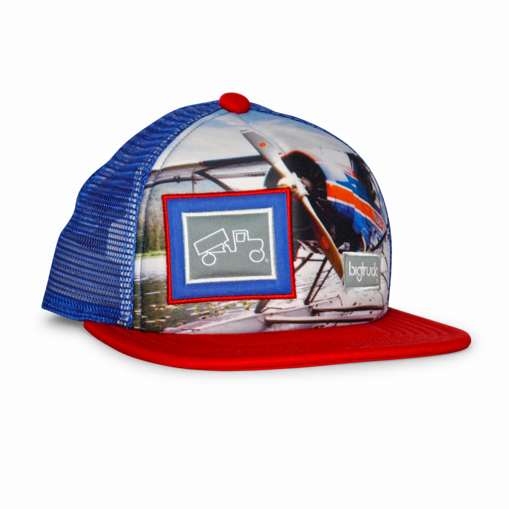 Casquette: Original Kids Sublimated Plane Red Blue