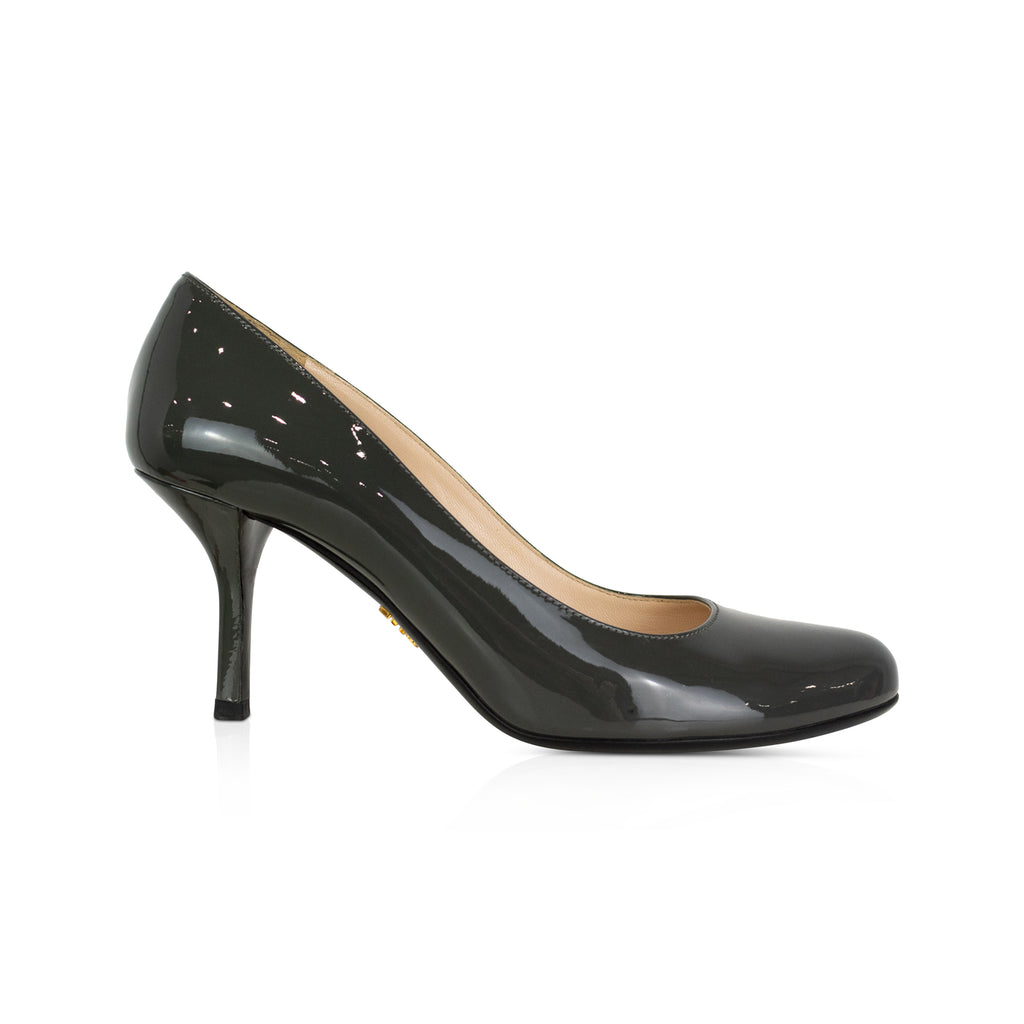 Prada Grey Pumps - 36.5 - Fashionably Yours Design Consignment