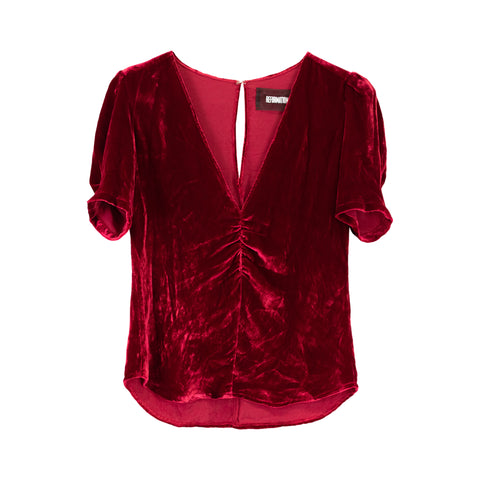 Reformation Velour Top - XS - Fashionably Yours Design Consignment