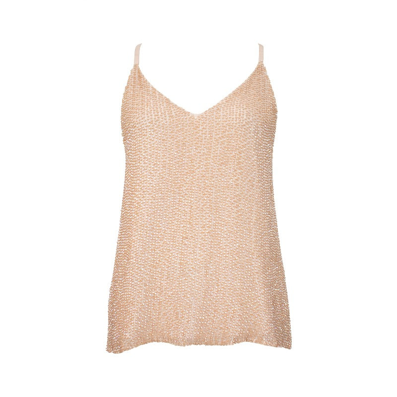 Alice + Olivia Beaded Top - S - Fashionably Yours Design Consignment