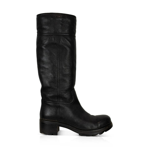Prada Leather Boots-  38 - Fashionably Yours Design Consignment