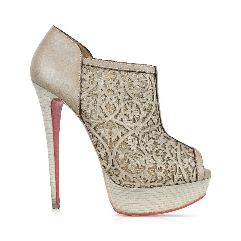 Christian Louboutin 'Pampas 150' Ankle Boots - 37 - Fashionably Yours Design Consignment