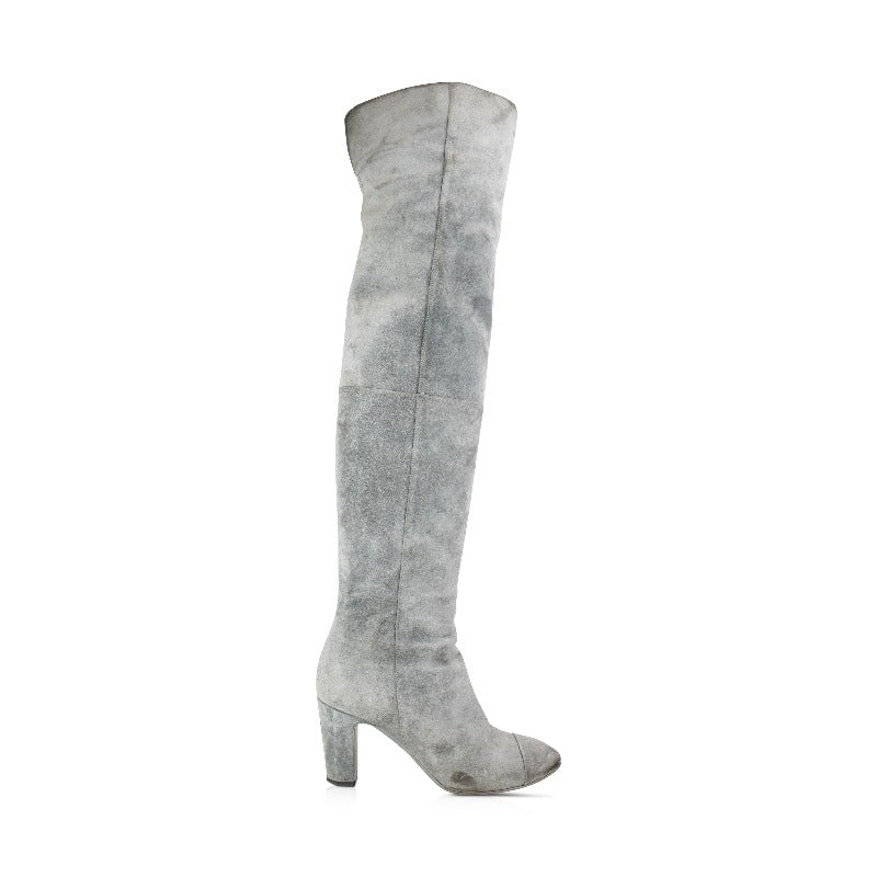 Chanel Suede Boots - 38 - Fashionably Yours Design Consignment