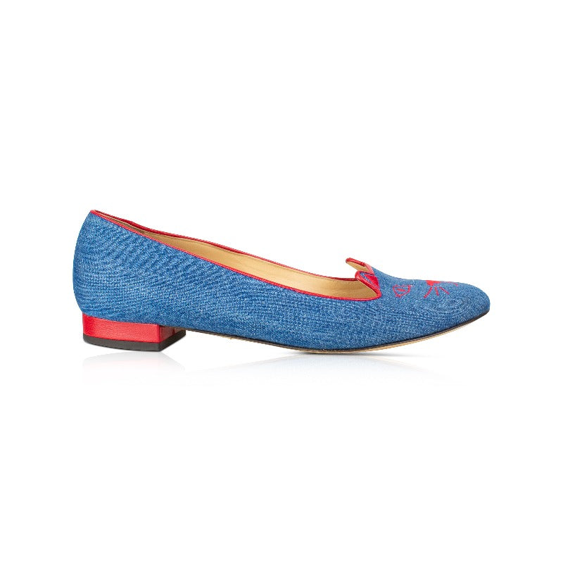 Charlotte Olympia 'Kitty' Flats - 39 - Fashionably Yours Design Consignment