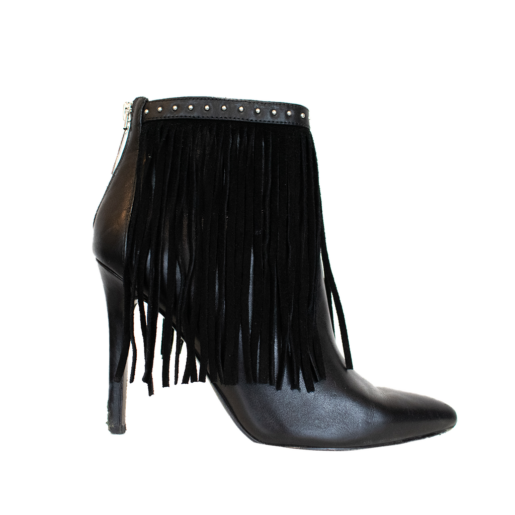Pierre Balmain Fringe Booties - 36 - Fashionably Yours Design Consignment