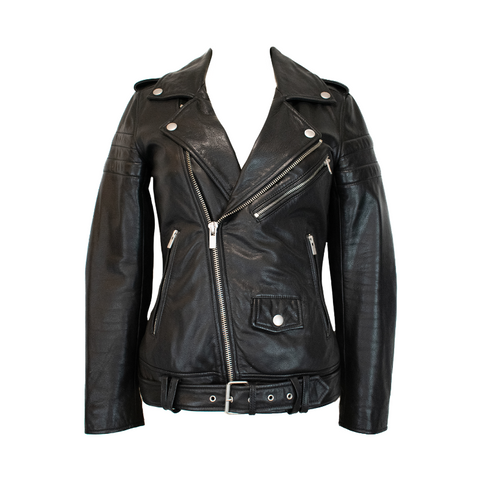 BLK DENIM Moto Jacket - XS - Fashionably Yours Design Consignment