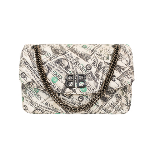 Balenciaga 'Money Print BB' Bag - Fashionably Yours Design Consignment