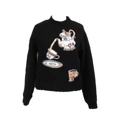Dolce & Gabbana Teapot Sweater - 36 - Fashionably Yours Design Consignment