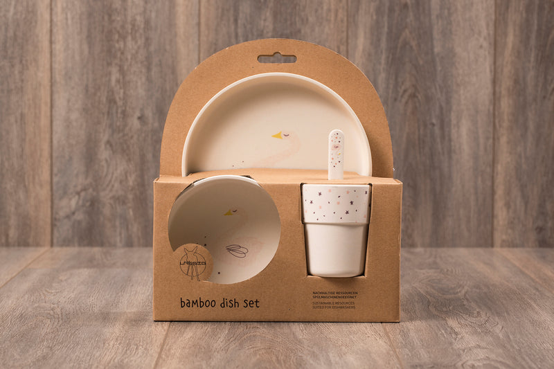 Bamboo Dish Set - The Little Swan