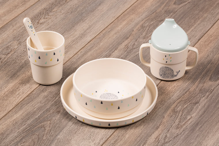 Bamboo Dish Set - The Little Whale