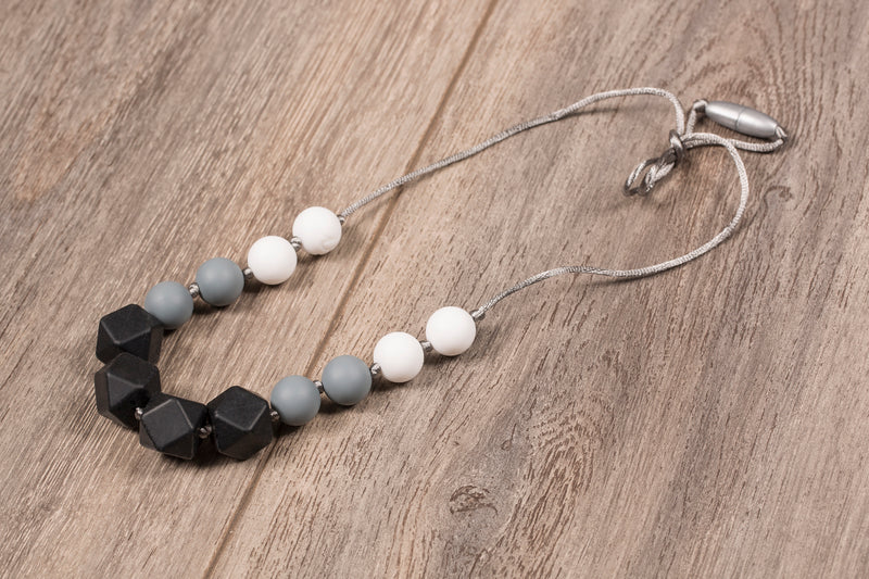 Itzy Ritzy - Black Smoke Teething Necklace
