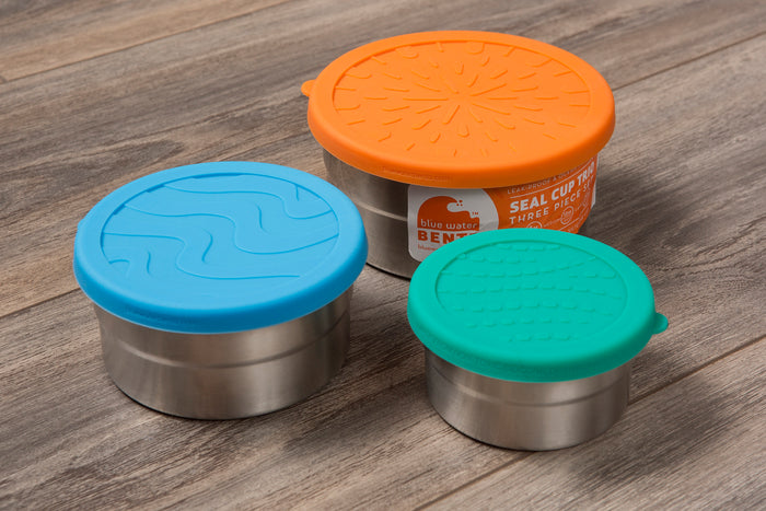 stainless steel lunchbox - bento box - plastic free - silicone