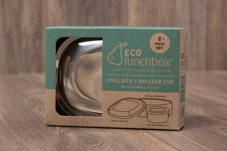 Eco Lunch Box - Oval + No-Leak Cup