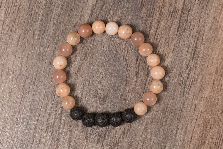 Essential Oil Moonstone Bracelet