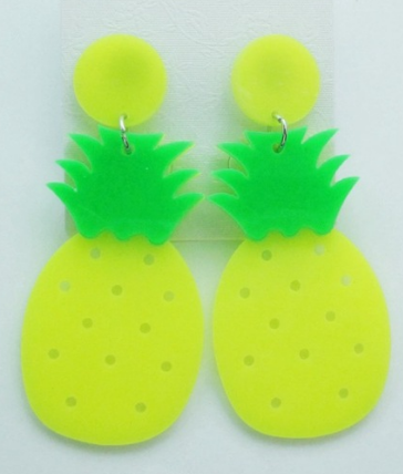 Pineapple Dangle Earrings (Green) The Bohemian's Closet