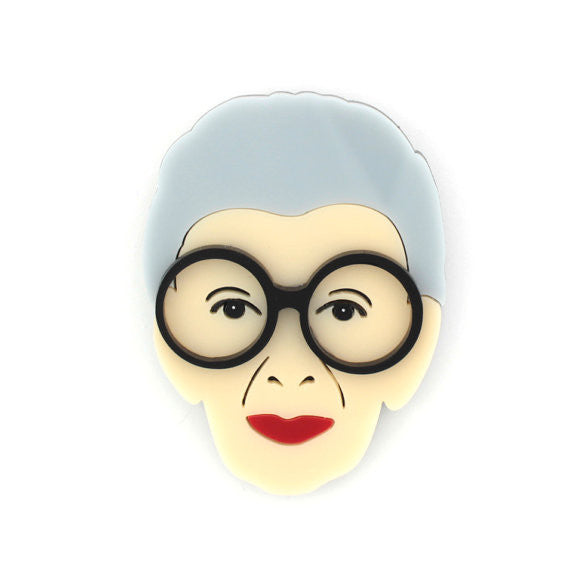 Iris Apfel Inspired Pin The Bohemian's Closet
