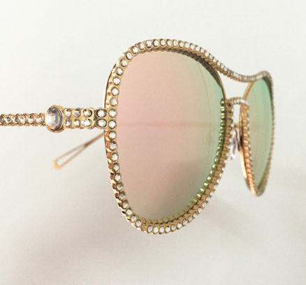The Beverly Rhinestone Sunnies The Bohemian's Closet
