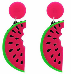 Watermelon Dangle Earrings The Bohemian's Closet