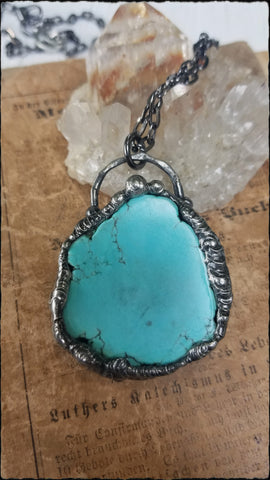 turquoise pendant necklace~