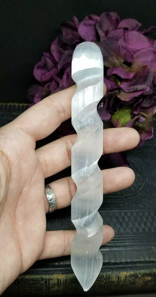 Selenite spiral wand~