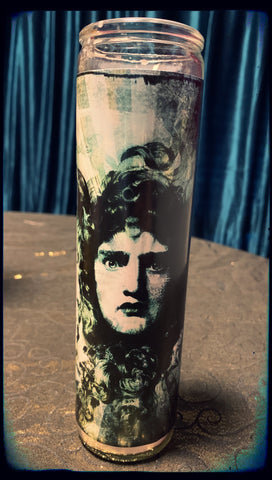 Vintage Medusa devotional candle~