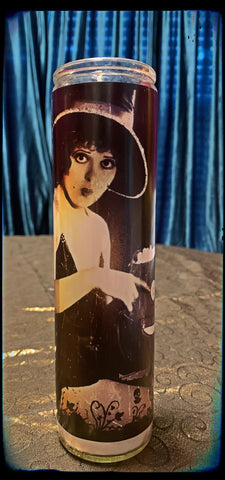 Clara Bow jack-o'-lantern devotional candle~