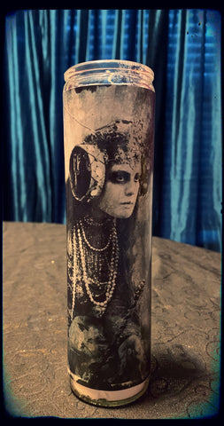 Vintage sorceress devotional candle~