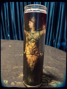 Vintage winged bohemian lady devotional candle~
