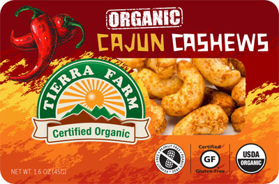 Organic Grab & Go Cajun Cashews (9 Pack Box)
