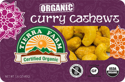 Organic Grab & Go Curry Cashews (9 Pack Box)